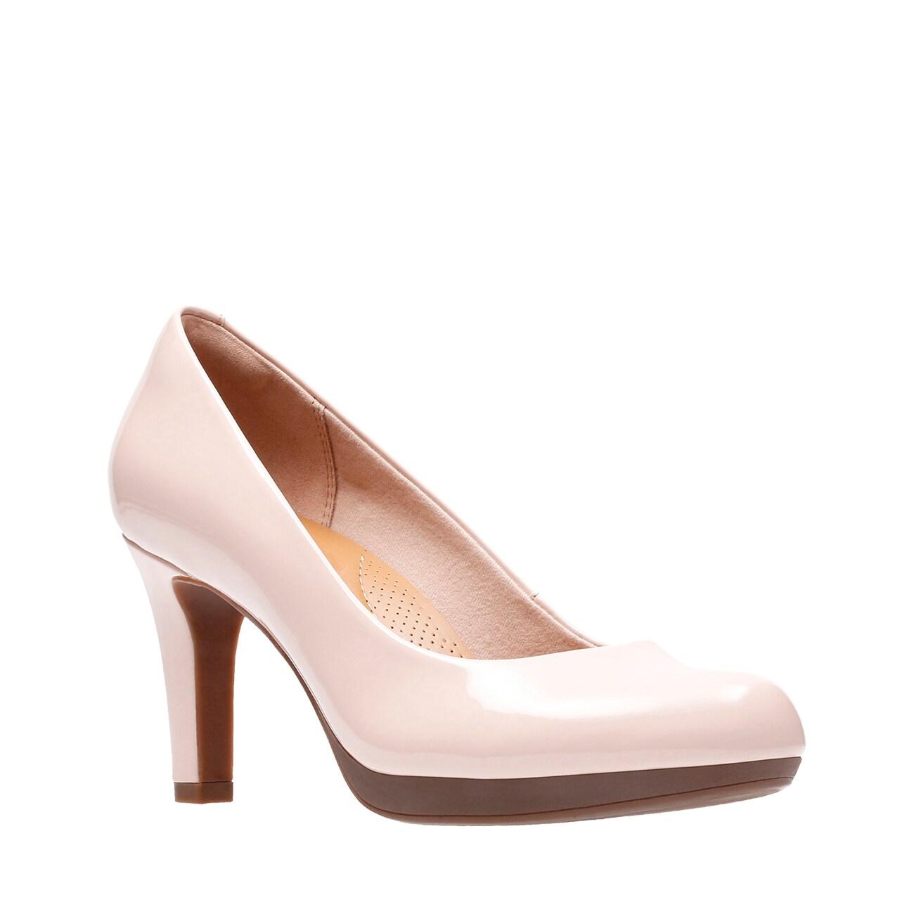 Details about  /CLARKS Adriel Viola Ladies Patent High Heel Shoe
